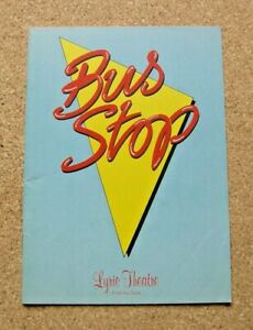 BUS STOP - LYRIC THEATRE PROGRAMME 1990. JERRY HALL AND SHAUN CASSIDY.