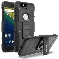 RANZ® Huawei Nexus 7 Black Impact Armor Hybrid Kickstand Cover & Belt Clip Case