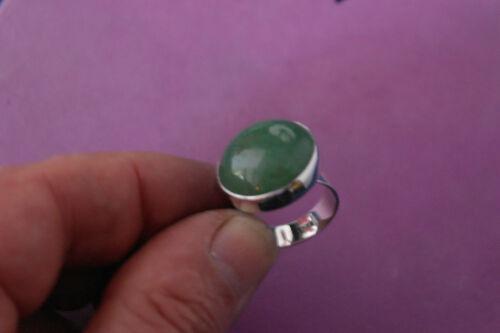 Schöne 925 Silber Ring mit Jade Edelstein 11.7 Gr.2.2 Cm.wide in Box