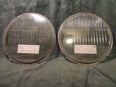 1929-30 Pontiac, 1929 Peerless, 1929-30 Kenworth, Pair Headlight Lens antique #5