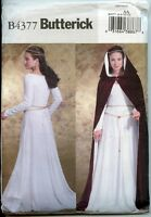 Medieval Gown And Hooded Cloak - Butterick Sewing Pattern - Sizes 6-12