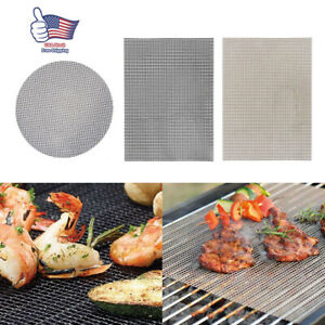 3Pcs BBQ Grill Mat Accessories Non-Stick Reusable and Heat Resistant Pad Mat New