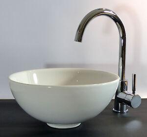 Waschbecken rund gäste wc  Landhaus Keramik Aufsatz Waschbecken Waschschale 32cm rund Gäste ...