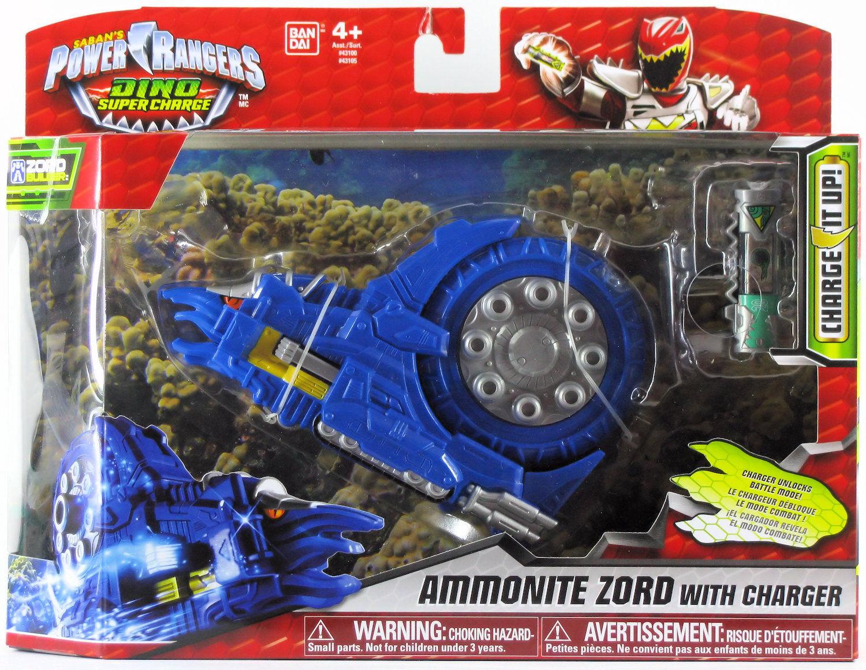 Power Rangers Dino súper Cochego amonita Zord gurumonite rifle Gatling Azul 2015