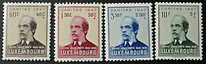 LUXEMBOURG-timbres-Stamps-Yvert-et-Tellier-n-402-a-405-n-2eme-choix-cyn8