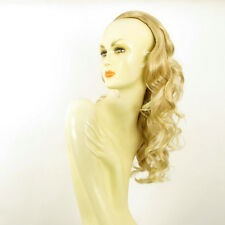 Demi-tête, demi-perruque 58cm blond doré méché blond très clair 016 en 24bt613