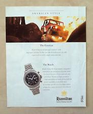 C252-Advertising Pubblicità-1998- HAMILTON KHAKI CHRONO 42