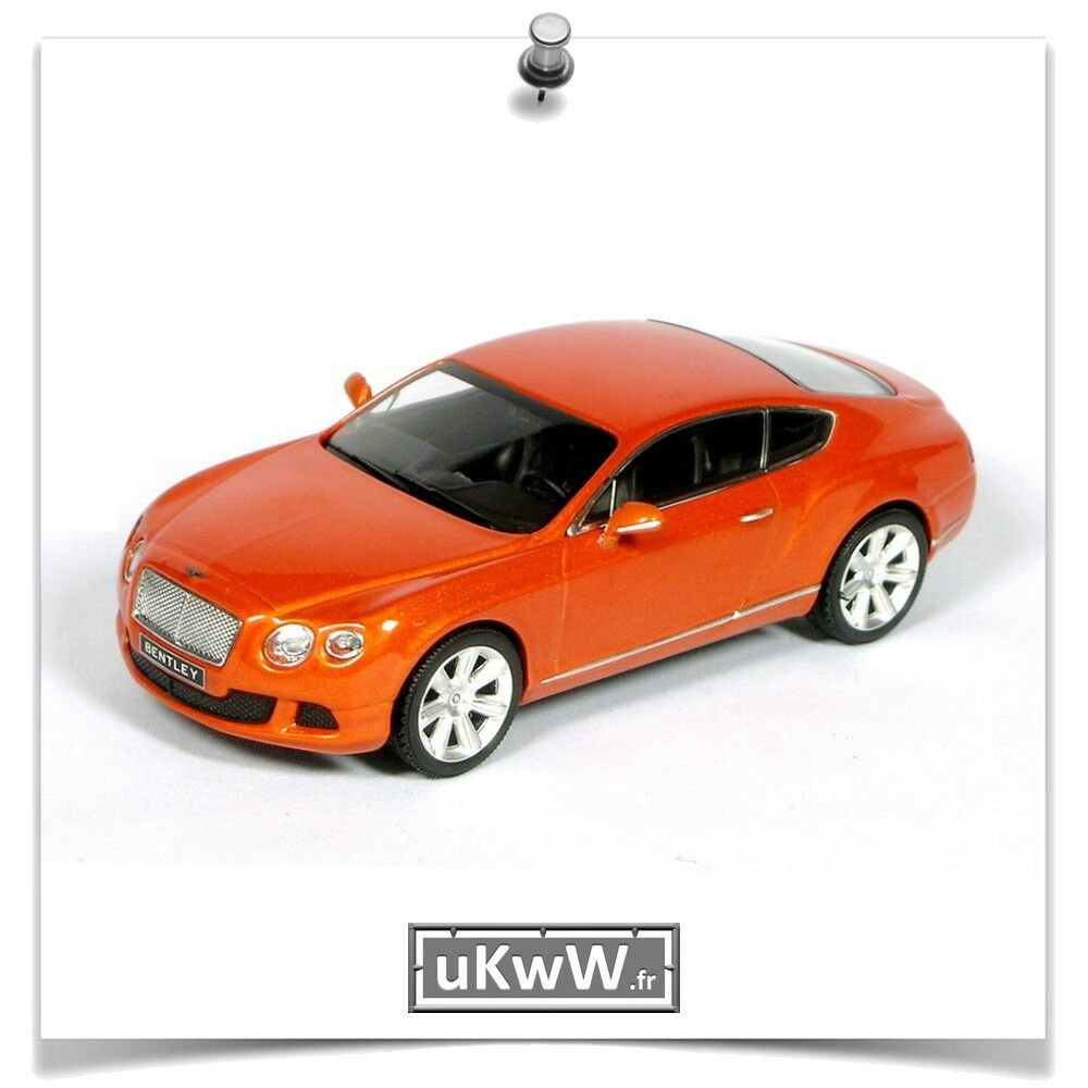 Minichamps 1 43 - Bentley Continental GT 2011 Orange métallisé