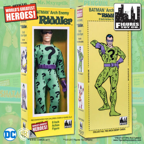 Official DC Comics The Riddler 8 inch Action Figure in Retro Box