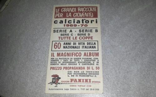 figurina mai attaccata * 1969-70 B CATANIA CATANZARO Calciatori Panini SCEGLI