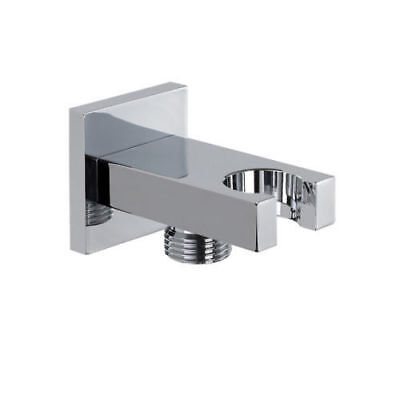 Chrome Fix Fit Wall Union Wall Outlet,Hose Connection Shower Head Elbow Brass