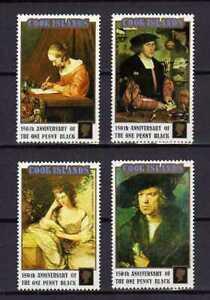 16299) Cook Isl. MNH New 1990 Stamp World 90 4v Penny Black