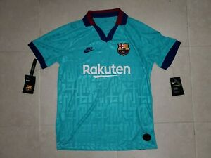 165 Nike Vapor Match Fc Barcelona 19 20 Third Alt Jersey Shirt Kit Green L Rare Ebay
