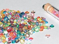 30pc MIX Lot Tiny little Crystal Ball rhinestone micro fairy gems 3mm AB Rainbow