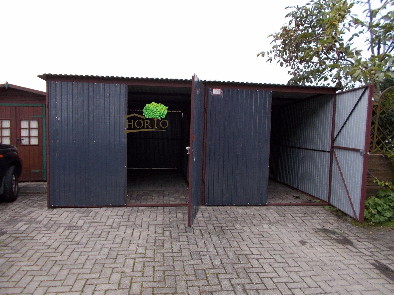 5,5x4,0 R7016 Fertiggarage Metallgarage LAGERRAUM KFZ GARAGE HALLE Fertiggarage