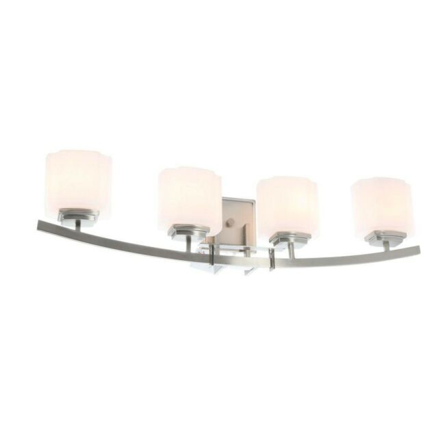 Hampton Bay 15042 Architecture 4 Light Brushed Nickel Vanity