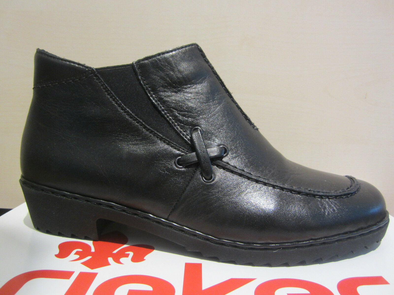 Rieker Boots, Boots, Winter Boots, Ankle Boots, Black, Leather, Padded, NEW