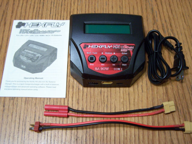 Redcat Hexfly HX-C6D Mini AC Battery Charger 2s 3s 4s LiPo 6-8 Nimh Deans Banana