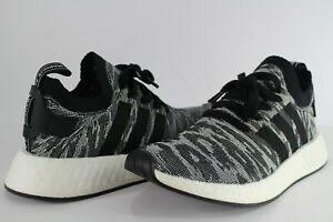 cbe9af6b4 Adidas NMD R2 PK Tiger Camo Core Black White Size 8.5 BY9409