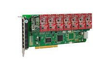 OpenVox A800P17 8 Port Analog PCI Base Card + 1 FXS + 7 FXO, Ethernet (RJ45)