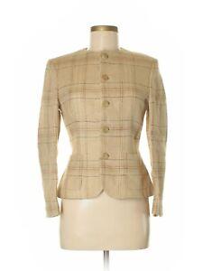 Ralph-Lauren-Collection-Tan-Checkered-Linen-Jacket-Size-6