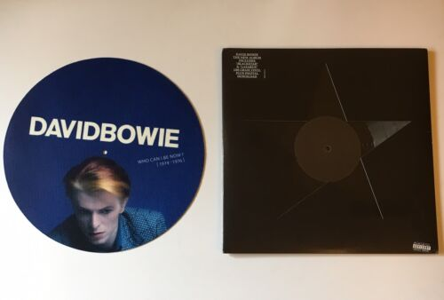 DAVID BOWIE PROMO TURNTABLE SLIPMAT + BLACKSTAR VINYL LP (RECORD,NEW & SEALED)