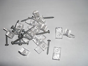 "16-1000 Mirror Holders 1/4"" With Screws Door Wall Clips Bracket Hanger Mounting"