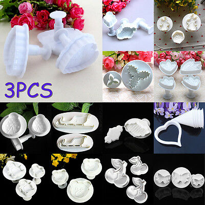 Fondant Cake Sugarcraft Decorating Cookie Pastry Cutter Plunger Mould Mold Tool