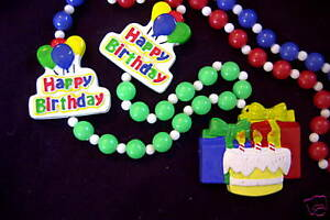 Excellent Happy Birthday Cake Presents Candles Party Mardi Gras Necklace Funny Birthday Cards Online Alyptdamsfinfo