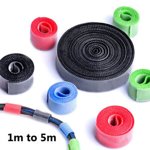 Cable Ties Cord Organizer Winder Strap Wire Management Holder For Office Home