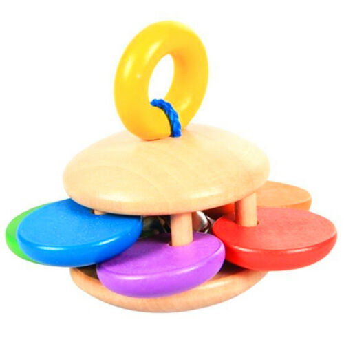 Wooden Baby Rattle Clutching Educational Toy for Children Sensory Teether Toy