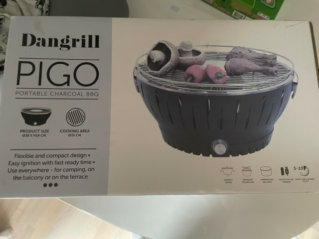 Bordgrill, dangrill pigo, helt nu bordgrill
