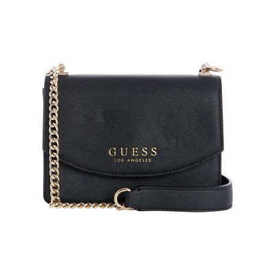 NEW Guess Robyn Flap Over Crossbody Bag Black
