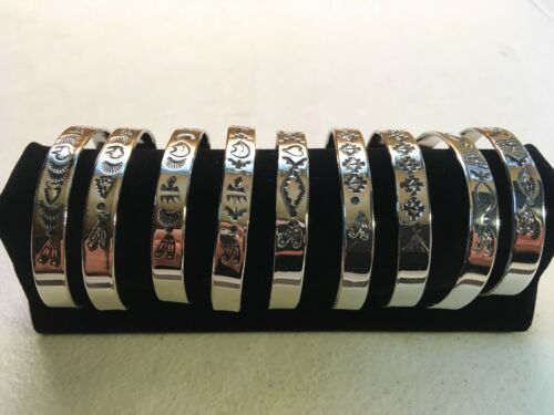 Butterfly Baby Bracelet Native American Indian Jewelry Nickel Silver Hand Stamp
