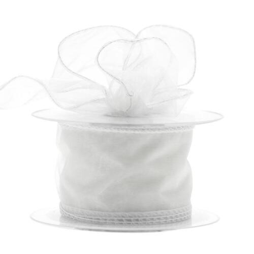 50 mm filaire ORGANZA mousseline ruban fleurs mariage 2 5 20 m Longueurs Choisir Couleur
