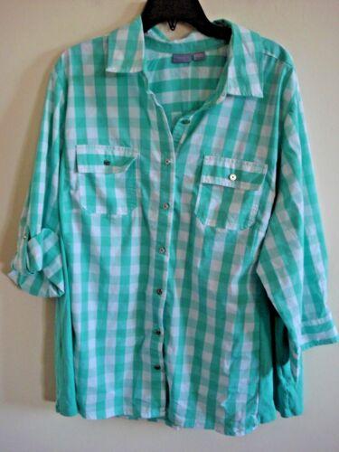 New Florida Keys To Green Size Fit Plus Ladies Blouse Knit 2x URxxwp