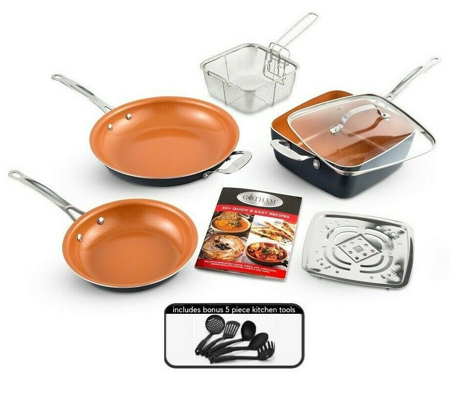 Gotham Steel Nonstick 12 Piece Complete Kitchen Pots & Pans