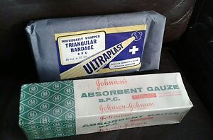 Vintage-first-aid-items-gauze-amp-bandage