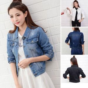 27431fe4b7ca NEW Autumn Fashion Ladies Women Denim Fitted Vintage Jean Jacket Top ...