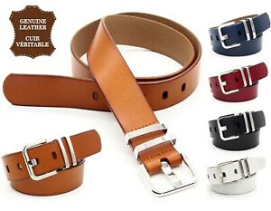 Woman-Belt-Leather-Real-Curl-Rectangular-Plain-Barbless