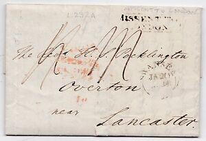 1831-J-JENKINS-SWANSEA-PMK-LETTER-TO-LANCASTER-FRAMED-MISSENT-TO-LONDON-L232A