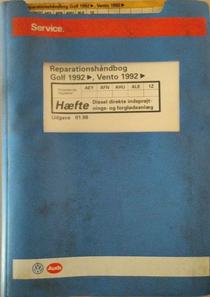 Reparationshåndbog, VW Golf diesel 1992 og frem