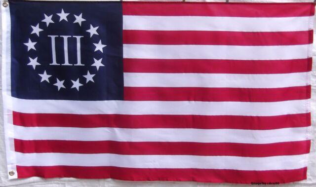 BETSY ROSS III - 3% - PATRIOTIC USA FLAG - 1776 - PATRIOT - AMERICAN REVOLUTION