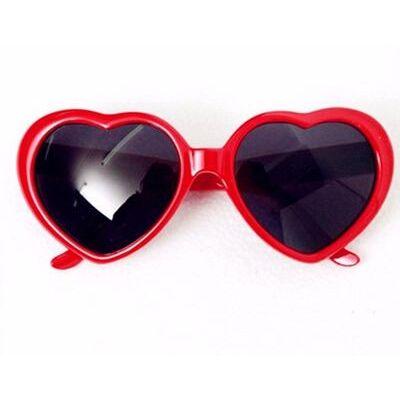 Heart Shaped Sunglasses Lovely Glasses Red White Blue Yellow Pink JGLAS02