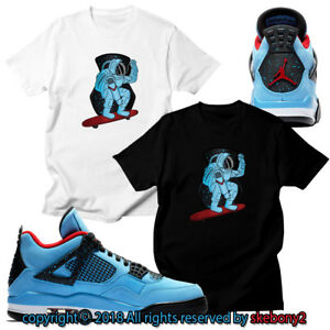 ae9797fe0d98 CUSTOM T SHIRT matching Nike Travis Scott x Air Jordan 4 Cactus Jack ...