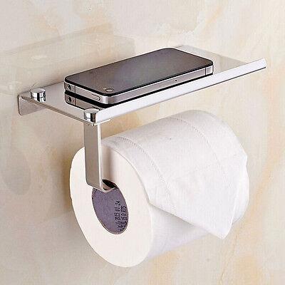 Polished Chrome Bathroom Toilet Paper Holder Tissue Bar Hanger Stainless Steel