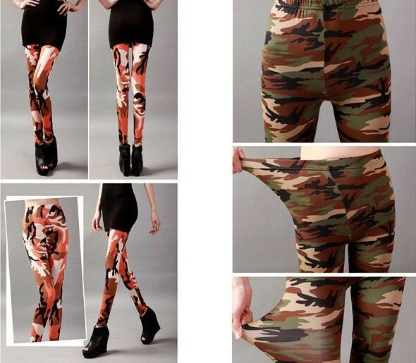 Women Punk Funky Sexy Leggings Stretchy Pencil Skinny Pants colorful pant