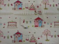 Fryetts Summer Holiday Pink Candy Curtain Upholstery Craft Designer Fabric