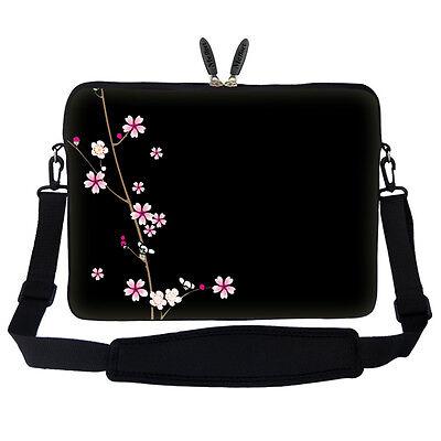 """15.6/"""" Laptop Computer Sleeve Case Bag w Hidden Handle /& Shoulder Strap 2804"""