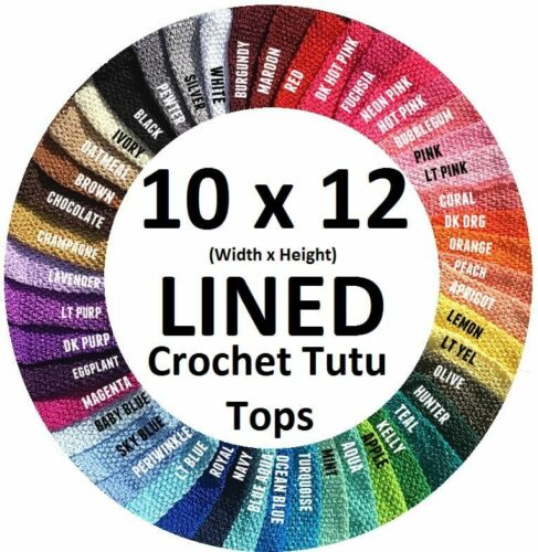 10 Inch Lined Crochet Tutu Tube Tops